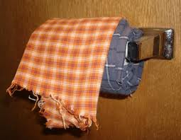 Hate your hubby's lumberjack shirt?  PROBLEM SOLVED.