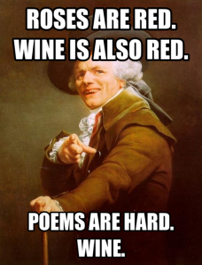 No reason other than I liked this.  Wine.